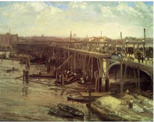 The Last of Old Westminster - James Abbott McNeill Whistler Oil Painting