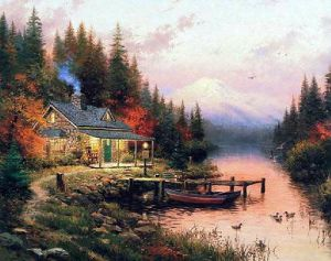 End of A Perfect Day - Thomas Kinkade Oil Painting