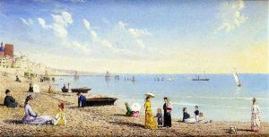 At the Beach - Conrad Wise Chapman Oil Painting