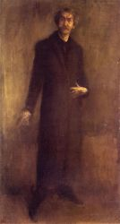 Brown and Gold - James Abbott McNeill Whistler Oil Painting
