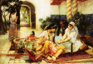 In a Village, El Biar, Algeria - Oil Painting Reproduction On Canvas