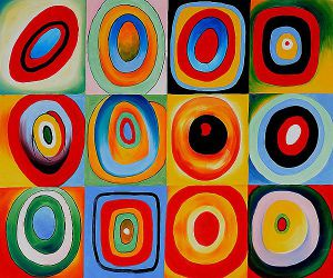 Farbstudie Quadrate III -  Wassily Kandinsky Oil Painting