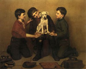 The Foundling - John George Brown Oil Painting