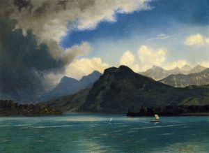 Approaching Storm - Albert Bierstadt Oil Painting