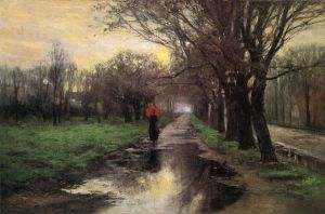 Meridian Street, Thawing Weather - Theodore Clement Steele Oil Painting