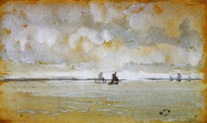 Grey Note-Mouth of the Thames - James Abbott McNeill Whistler Oil Painting