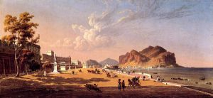 View of Palermo - Robert Salmon Oil Painting