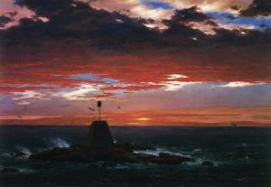 Beacon, off Mount Desert Island - Frederic Edwin Church Oil Painting