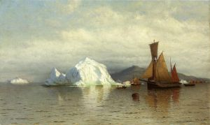 Labrador Fishing Boats near Cape Charles - William Bradford Oil Painting