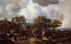 Village Festival with the Ship of Saint Rijn Uijt - Jan Steen Oil Painting