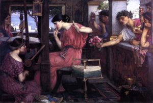 Penelope and the Suitors - John William Waterhouse Oil Painting