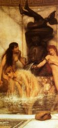 Stirgils and Sponges - Sir Lawrence Alma-Tadema Oil Painting,