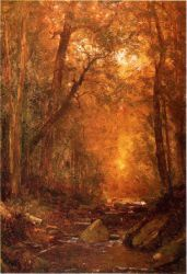 A Catskill Brook - Thomas Worthington Whittredge Oil Painting