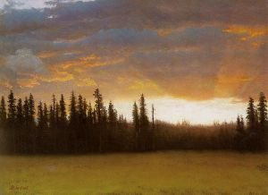 California Sunset - Albert Bierstadt Oil Painting