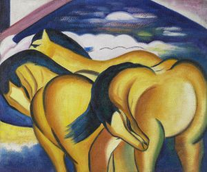 Little Yellow Horses - Franz Marc Oil Painting
