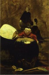 The Japanese Doll - William Merritt Chase Oil Painting Mary Cassatt Oil Painting