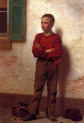 Not to be Trifled With - John George Brown Oil Painting