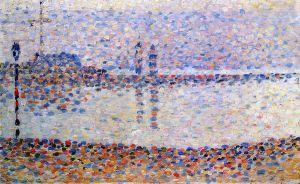 Study for 'The Channel at Gravelines' - Georges Seurat Oil Painting