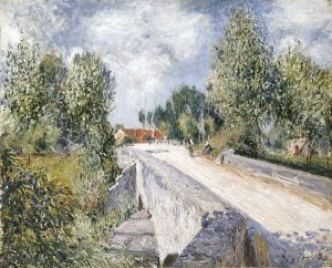 Bridge over the Orvanne near Moret - Alfred Sisley Oil Painting