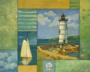 Lighthouse 1 - Oil Painting Reproduction On Canvas