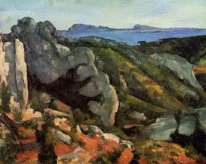 Rocks at L'Estaque - Paul Cezanne Oil Painting