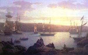 Shipping at Pembroke - Oil Painting Reproduction On Canvas