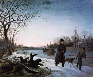 Winter - Thomas Birch Oil Painting