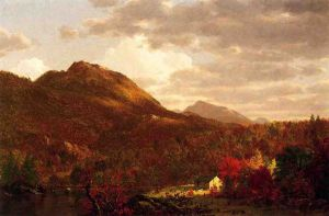 Autumn on the Hudson - Frederic Edwin Church Oil Painting