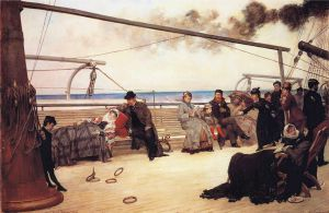 On Shipboard - Henry Bacon Oil Painting