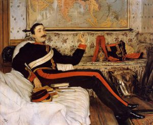 Captain Frederick Gustavus Burnaby - James Tissot oil painting