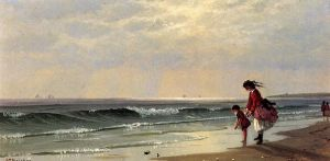 At the Shore - Alfred Thompson Bricher Oil Painting