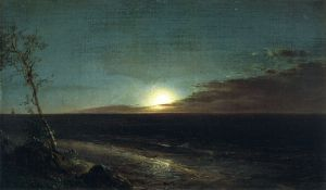 Moonrise II - Frederic Edwin Church Oil Painting