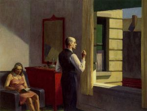 Hotel by a Railroad - Edward Hopper Oil Painting