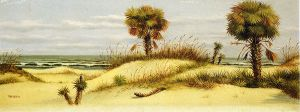 Palms at Ponce Park, Florida - William Aiken Walker Oil Painting