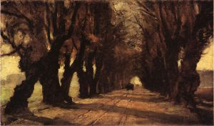 Road to Schleissheim - Theodore Clement Steele Oil Painting