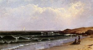 Children at the Seashore - Alfred Thompson Bricher Oil Painting