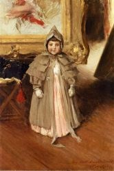 My Little Daughter Dorothy - William Merritt Chase Oil Painting Mary Cassatt Oil Painting