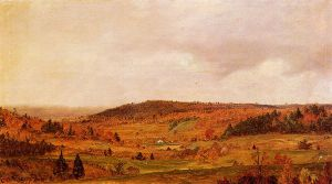 Autumn Shower - Frederic Edwin Church Oil Painting