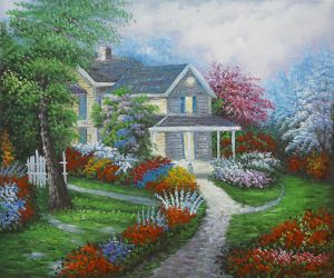Home Is Where The Heart Is - Oil Painting Reproduction On Canvas