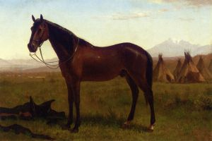 Portrait of a Horse - Albert Bierstadt Oil Painting