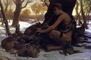 Marsyas Enchanting the Hares - Oil Painting Reproduction On Canvas