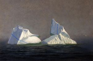 Icebergs II - William Bradford Oil Painting