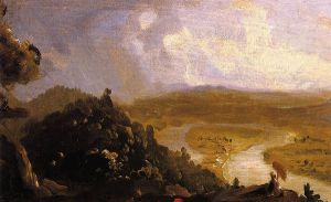 Sketch for 'The Oxbow' - Thomas Cole Oil Painting