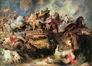 Battle of the Amazons - Peter Paul Rubens Oil Painting