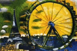 La Grande Roue - Marc Chagall Oil Painting