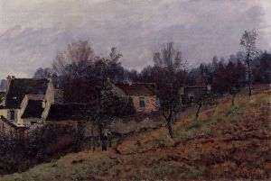 Autumn in Louveciennes - Alfred Sisley Oil Painting