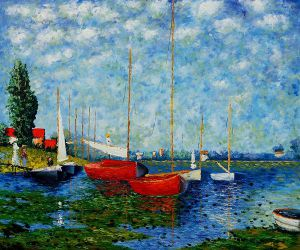 Red Boats at Argenteuil II - Claude Monet oil painting