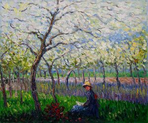 An Orchard in Spring II - Claude Monet Oil Painting
