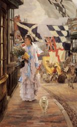 A Fete Day at Brighton - Oil Painting Reproduction On Canvas