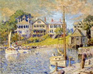 At Edgartown, Martha's Vinyard - Colin Campbell Cooper Oil Painting